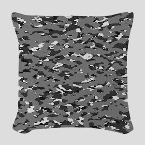 Camouflage: Urban II Woven Throw Pillow
