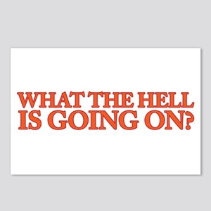 What the hell is going on Postcards (Package of 8)