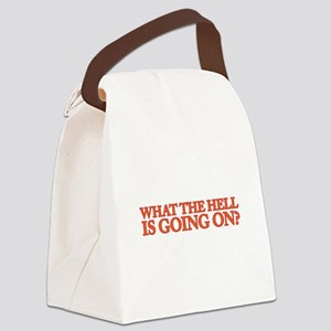 What the hell is going on? Canvas Lunch Bag
