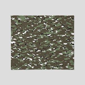Camouflage: Alpine III Throw Blanket