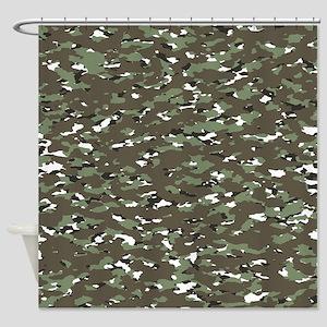 Camouflage: Alpine III Shower Curtain