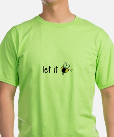 Let it bee Ash Grey T-Shirt