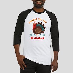 Gobble Wobble Turkey Baseball Jersey