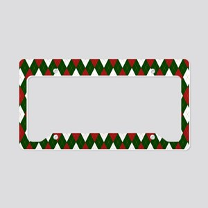 Green and Red Argyle Harlequin Diamond Pattern Lic