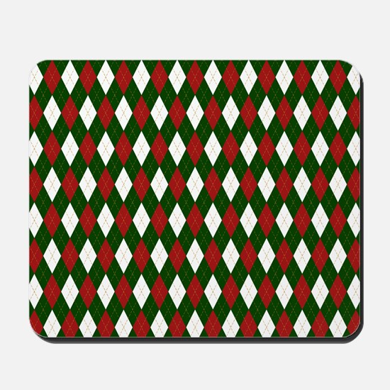 Green and Red Argyle Harlequin Diamond Pattern Mou