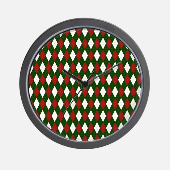 Green and Red Argyle Harlequin Diamond Pattern Wal