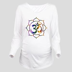 Om Symbol Long Sleeve Maternity T-Shirt