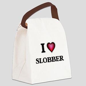 I love Slobber Canvas Lunch Bag