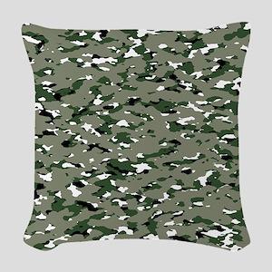 Camouflage: Alpine IV Woven Throw Pillow