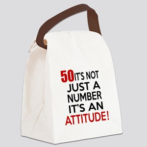 50 It Is Not Just a Number Birthd Canvas Lunch Bag