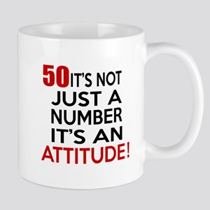 50 It Is Not Just a Number Birthday Des Mug