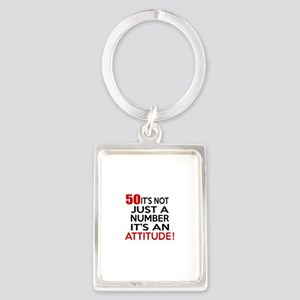50 It Is Not Just a Number Birth Portrait Keychain