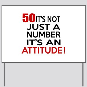 50 It Is Not Just a Number Birthday Desi Yard Sign