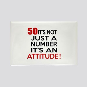 50 It Is Not Just a Number Birthd Rectangle Magnet