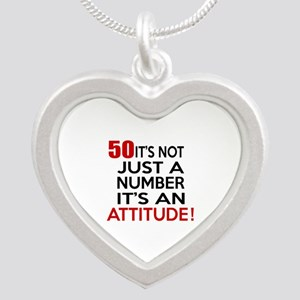 50 It Is Not Just a Number B Silver Heart Necklace