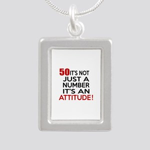 50 It Is Not Just a Numb Silver Portrait Necklace