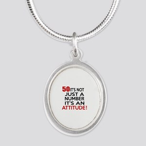 50 It Is Not Just a Number Bi Silver Oval Necklace