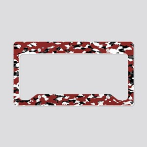 Camouflage: Red II License Plate Holder