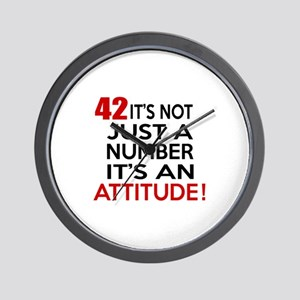 42 It Is Not Just a Number Birthday Des Wall Clock
