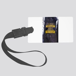 Deer baiting humor Large Luggage Tag