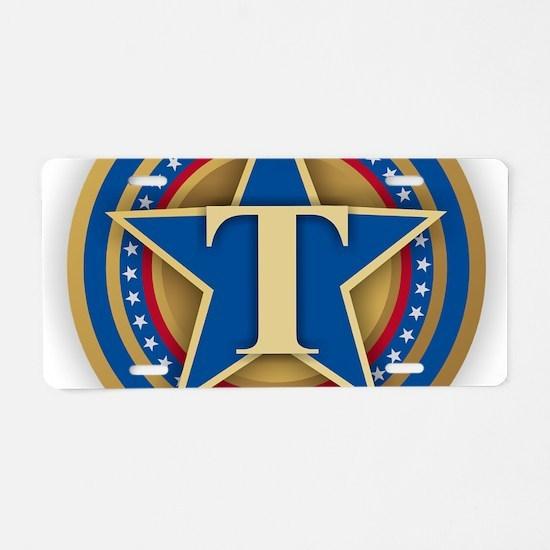 T for Trump Aluminum License Plate