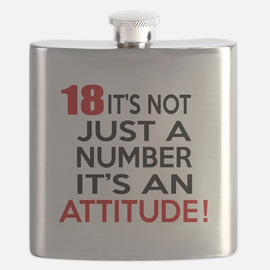 18 It Is Not Just a Number Birthday Designs Flask