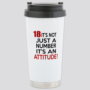 18 It Is Not Just a Num Stainless Steel Travel Mug