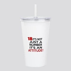18 It Is Not Just a Nu Acrylic Double-wall Tumbler