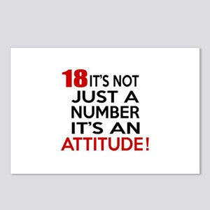 18 It Is Not Just a Numbe Postcards (Package of 8)