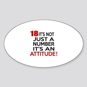 18 It Is Not Just a Number Birthday Sticker (Oval)