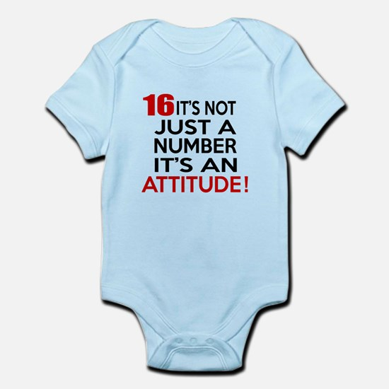 16 It Is Not Just a Number Birthda Infant Bodysuit