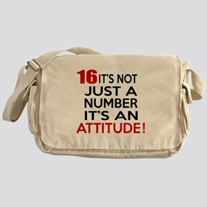 16 It Is Not Just a Number Birthday Messenger Bag
