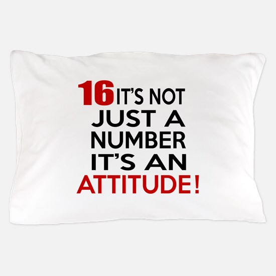 16 It Is Not Just a Number Birthday De Pillow Case