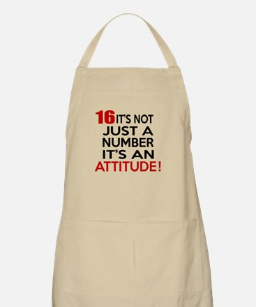 16 It Is Not Just a Number Birthday Designs Apron