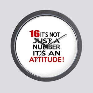 16 It Is Not Just a Number Birthday Des Wall Clock