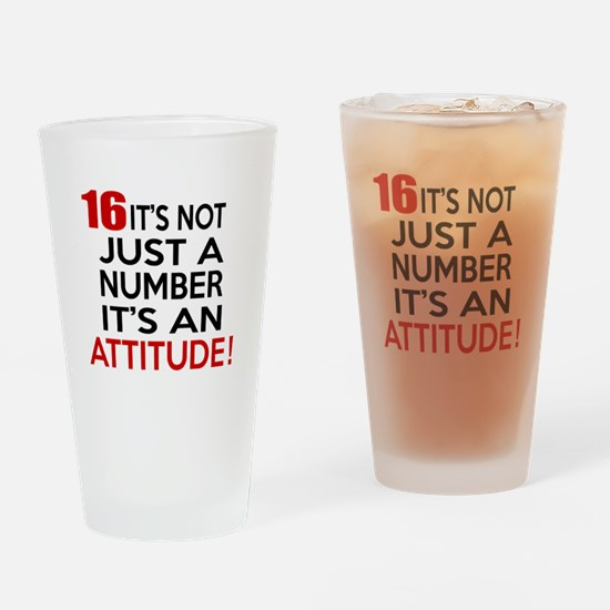 16 It Is Not Just a Number Birthday Drinking Glass
