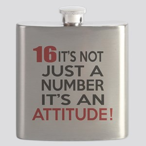 16 It Is Not Just a Number Birthday Designs Flask