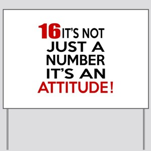 16 It Is Not Just a Number Birthday Desi Yard Sign