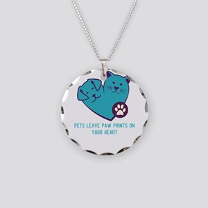 pets leave paw prints on you Necklace Circle Charm