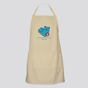 pets leave paw prints on your heart Apron
