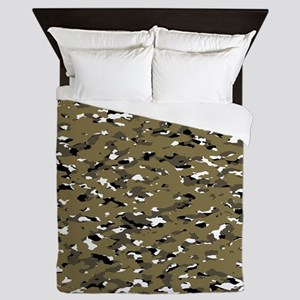 Camouflage: Arid Desert VII Queen Duvet