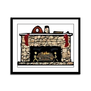 Fireplace Lfp Framed Panel Print