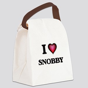 I love Snobby Canvas Lunch Bag