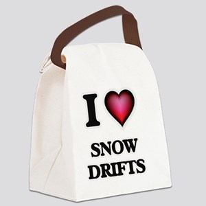 I love Snow Drifts Canvas Lunch Bag
