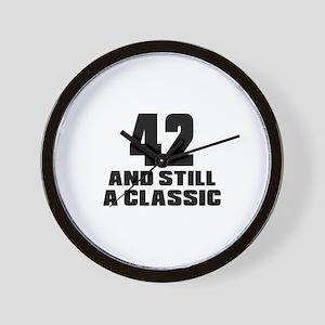 42 And Still A Classic Birthday Designs Wall Clock