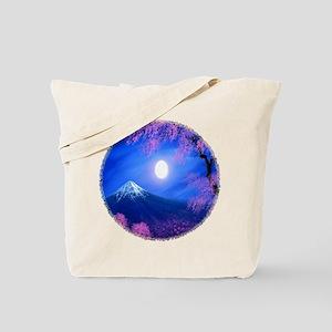 Moonlit Mountain Scenic Landscape Tote Bag