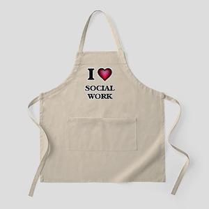 I love Social Work Apron