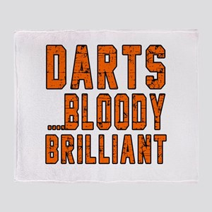 Darts Bloody Brilliant Sports Design Throw Blanket