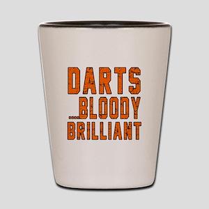 Darts Bloody Brilliant Sports Designs Shot Glass