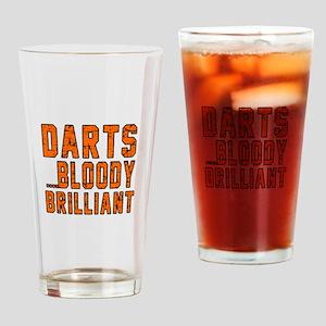 Darts Bloody Brilliant Sports Desig Drinking Glass